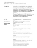 Changing Nation Project-based Unit with Summative Assessment