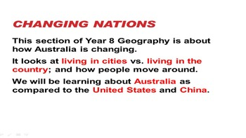 Changing Nations Year 8 Geography Australian Curriculum Opening Introduction