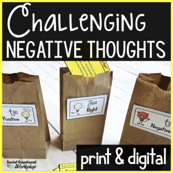 Changing Negative Thoughts Worksheets: Use Positive Thinking, Reframe Negative