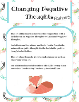 FREE} Critical Thinking Worksheet for Changing Negative Thoughts