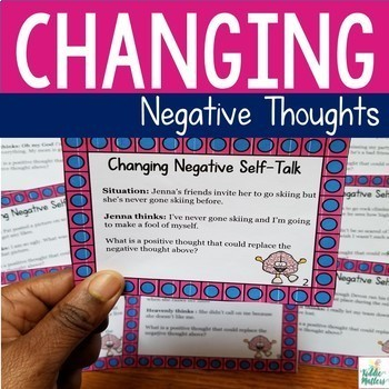 Changing Negative Thoughts Worksheets And Activity By Kiddie Matters