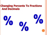 Changing Percents To Fractions And Decimals- PPT