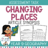 Changing Places: Article Synopsis - Assessment Task Year 9