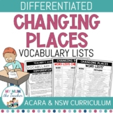 Changing Places: Vocabulary Lists Differentiated - Year 9