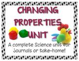 Science Unit - Changing Properties Journal Activities!