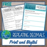 Changing Repeating Decimals to Fractions - Print and Digital - Google Form
