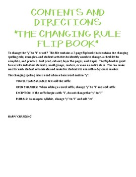 Changing Rule Flip Book - BW