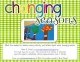 Changing Seasons {Writing Craftivity/Bulletin Board/Student Workbook}