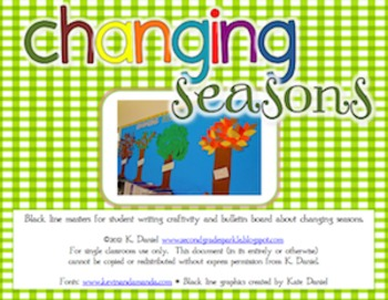 Changing Seasons {Writing Craftivity/Bulletin Board/Student Workbook}