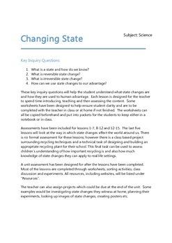 Changing State - Science Plan