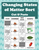 Changing States of Matter Cut & Paste-How one changes into another w/ examples