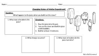 Changing States of Matter Experiment