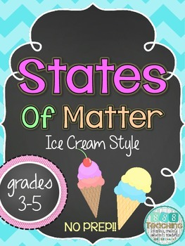 Changing States of Matter Ice Cream Cone