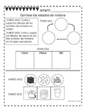 Changing States of Matter (Spanish) FREEBIE