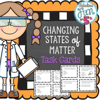 Phases of Matter: Task Cards