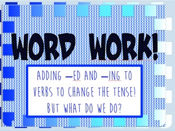 Changing Tenses in Spelling