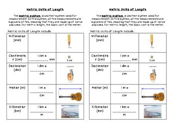 Changing Units, Metric Length, and Metric Mass Journal Notes