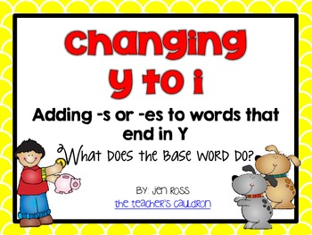 Words that Change Y to I: Adding -s or -es