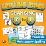 Changing Y to I Spelling Rule Activities