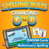 Changing Y to I Spelling Rule Digital Boom Task Cards