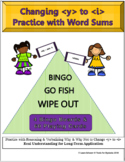 Changing Y to I: Suffixing with Word Sums Bingo, Go Fish, & Wipe-Out Games