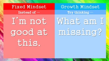 Changing a Fixed Mindset