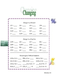 Changing from Decimals, Fractions, and  Whole Numbers