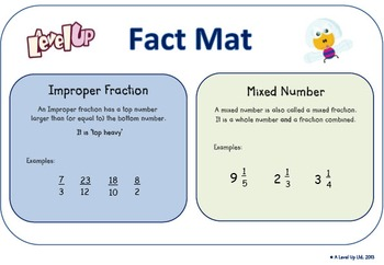 Changing improper fractions to a mixed number and vice versa