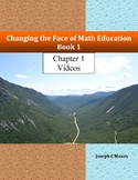 Changing the Face of Math Education Book 1 Chapter 1 Videos