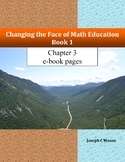 Changing the Face of Math Education Book 1 Chapter 3 e-book pages