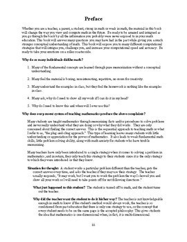 Changing the Face of Math Education Book 1 Preview