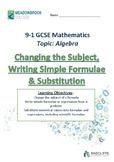 Changing the Subject of a Formulae