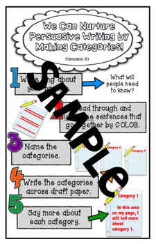Changing the World: Opinion Writing - Lucy Calkins Third Grade Student Charts