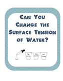 Surface tension Scientific Method Inquiry Experiment-soapy, salt and tap water