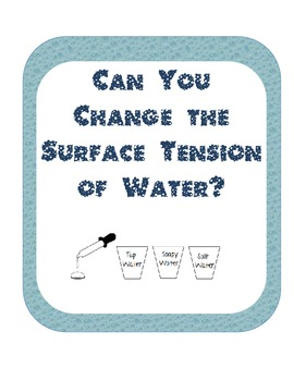 Surface tension Scientific Method Inquiry Experiment-soapy