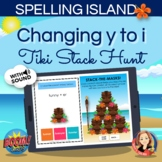 Changing y to i Spelling Rule Boom Card Hunt Game