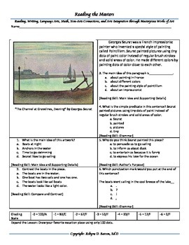 Intervention & Test Prep with Channels at Gravelines, Evening by Georges Seurat