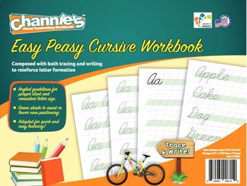 Channie's Easy Peasy Cursive workbook combine both tracing & writing.