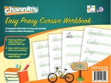 Channie's Easy Peasy Cursive workbook combine both tracing