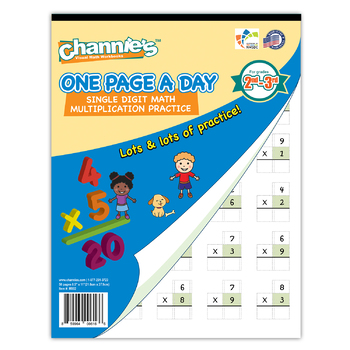 Channie's One Page A Day Single Digit Multiplication Practice Workbook