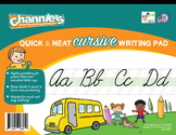 Channie's Quick & Neat Cursive Pad for 80 strong pages