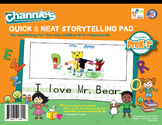 Channie's Quick & Neat Storytelling Pad for Prek-1st Grade 80 strong pages