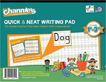 Channie's Quick & Neat Writing Pad for 1st - 3rd Grade 80