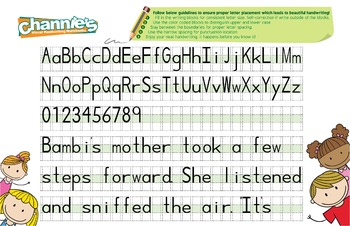Channie's Quick & Neat Handwriting Pad for 1st - 3rd Grade Quick Improvement!