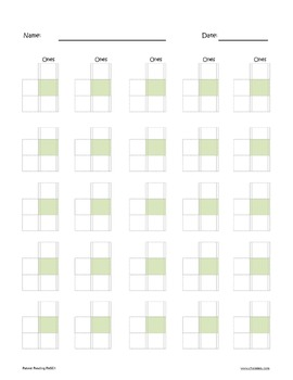 Channie's Single Digit Math Line-Up Sheet 80 strong pages