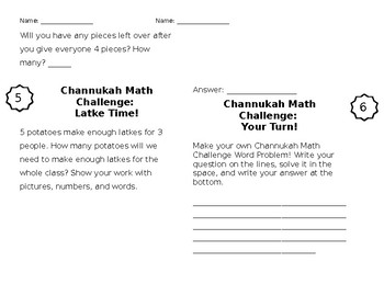 Channukah Math Challenge