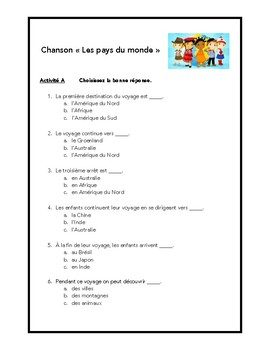 Chanson, nationalités et pays, French song