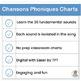 French: Chansons Phoniques - 36 sound charts that complement Le manuel phonique.
