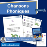 French: Chansons Phoniques - 36 sound charts that compleme