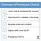 French: Chansons Phoniques - 37 sound charts that compleme